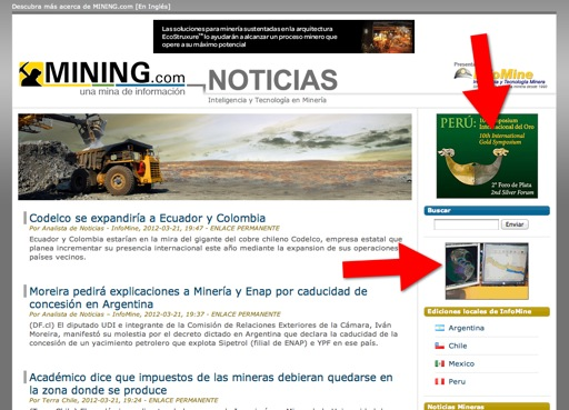 Advertise on the Spanish News Site - MINING COM