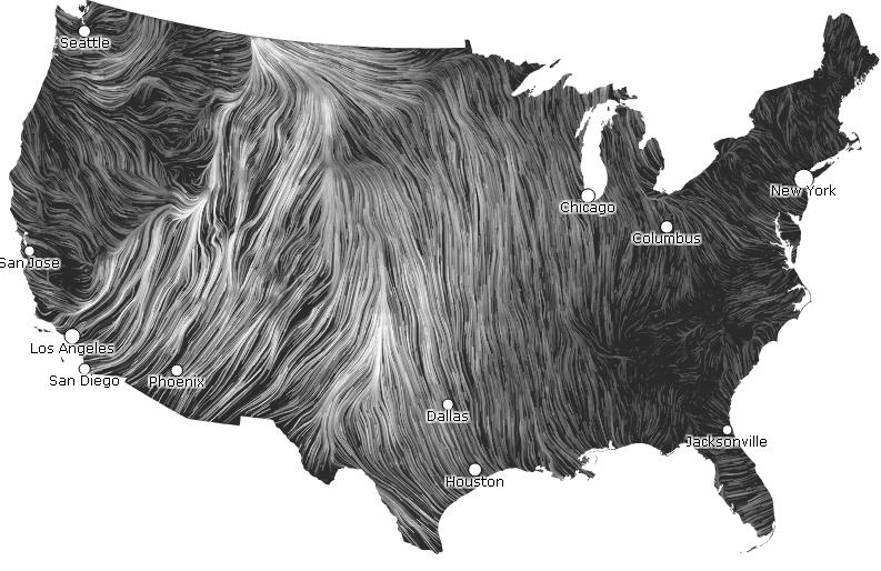 Real Time Wind Map Real time wind map goes viral   MINING.COM