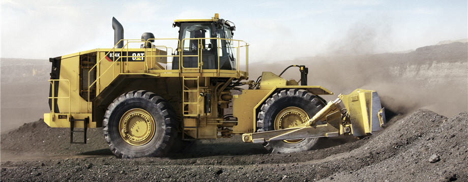 cat 834k wheel dozer working in coal mine c830186