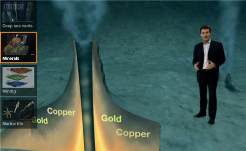 BBC screenshot of deep sea mining video