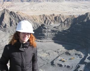 Elena at a mine site
