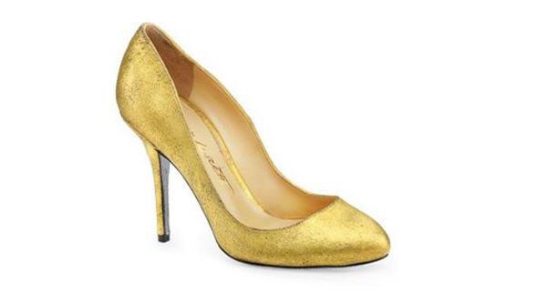 Designer 24 carat gold shoes on sale