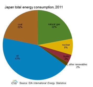 Japan's energy consumption, 2011