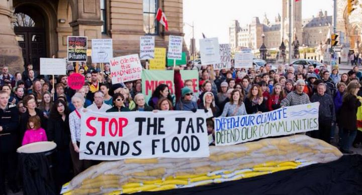 Oil sands protest