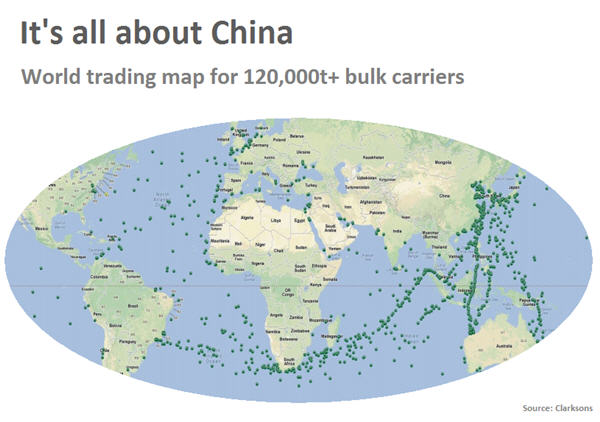 What hard landing? Chinese bulk trade barometer surges to 3-year high