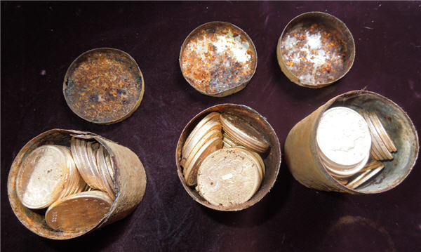 Coins unearthed by California family