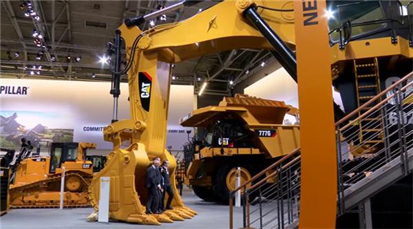 The Cat® 6020B hydraulic mining shovel