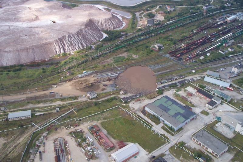 More insane pictures of Russian potash mining destruction