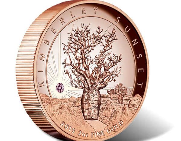 This pink diamond gold coin is set to make history
