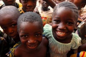 Children from the community neighbouring Roxgold's Yaramoko project