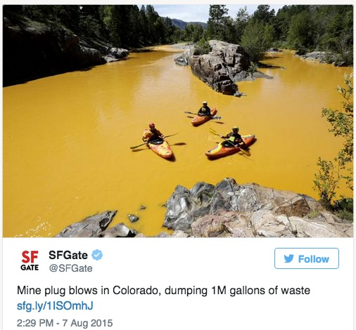 EPA-triggered mine spill ion Colorado triples in volume
