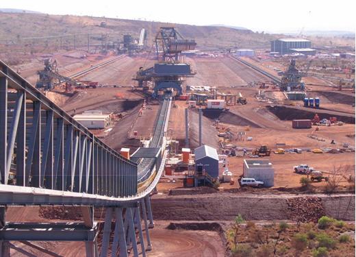 Hope Downs Mine - stockyard machines - photo