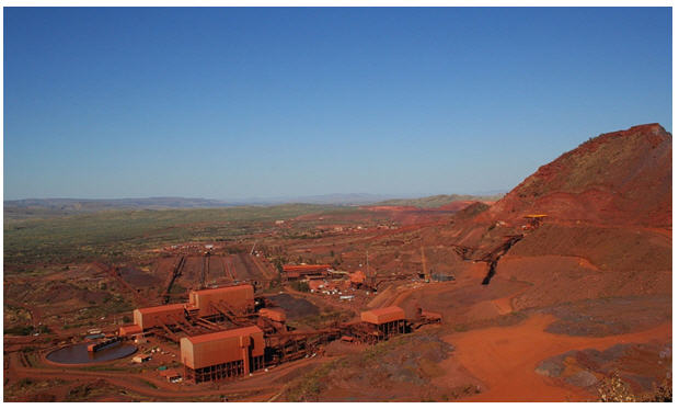 Mount Tom Price mine, part of Hamersley mine complex, Rio Tinto