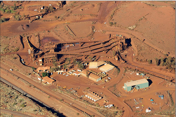 Yandi iron ore mine - photo