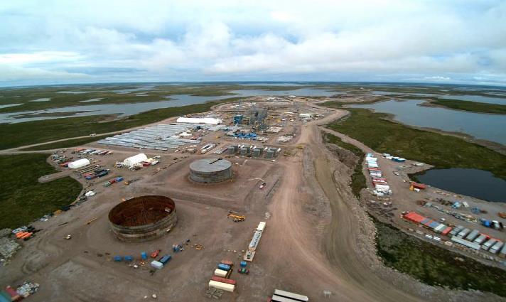 Gahcho Kué construction progress, NWT Canada, September 2015. Source: Mountain Province Diamonds.