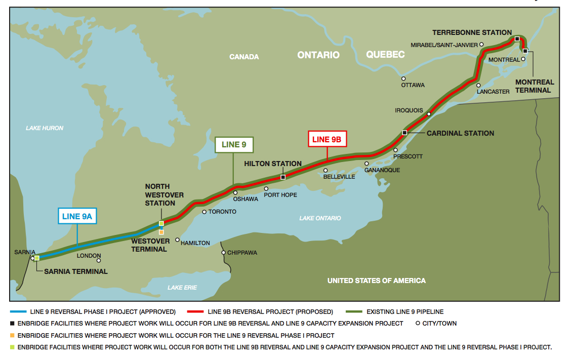 Enbridge warns Line 9 pipeline holdups to hurt 2015 earnings