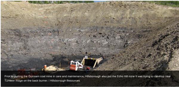 Coal prices claim Quainsam coal mine