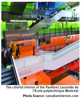 Franco-Nevada - interior of the Pavillons Lassonde de l'Ecole Polytecnique Montrea.