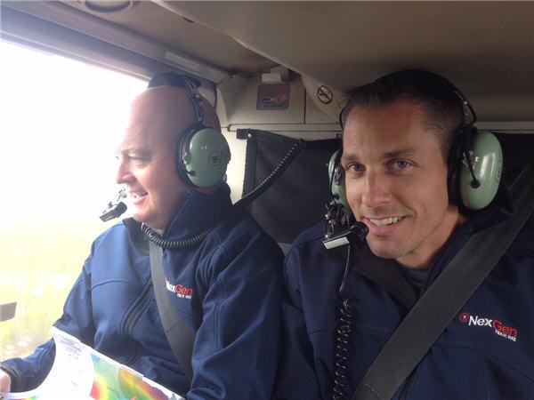 NexGen Energy CEO Leigh Curyer (left) and VP Exploration Garrett Ainsworth (right). Sept. 4, 2014. CEO.CA Photo