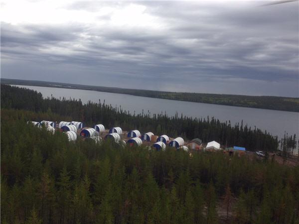 The Arrow camp in Saskatchewan's Athabasca Basin - September 2014. CEO.CA Photo