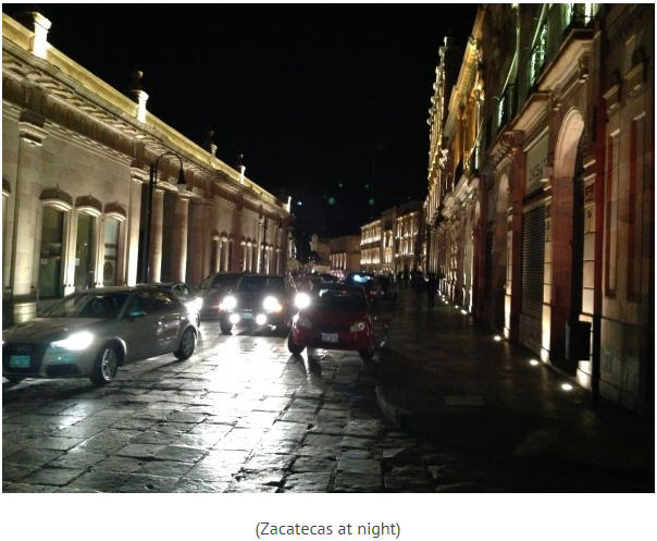 Canarc Resource Corp site trip - Zacatecas at night