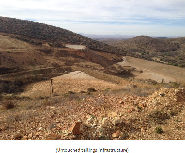 Canarc Resource Corp site trip - untouched tailings infrastructure