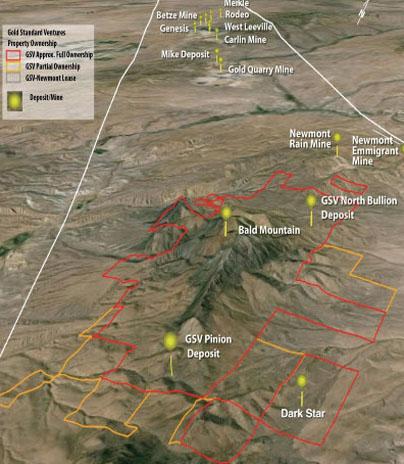 Senior gold rpoducer Goldcorp takes large stake - map