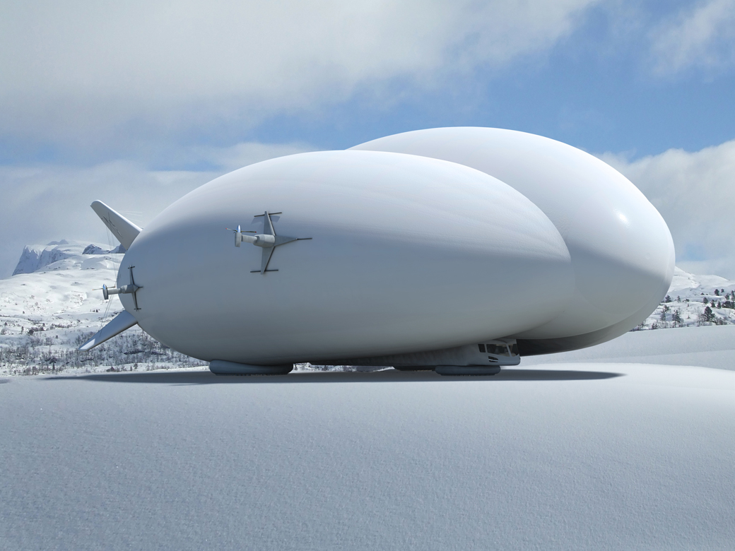 hybrid airship parked on snow 1140