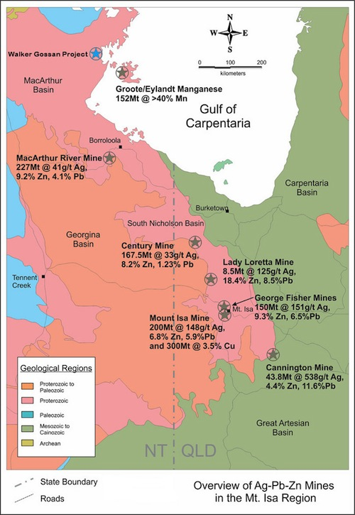 Overview of Ag-Pb-Zn Mines in the Mt. Isa Region