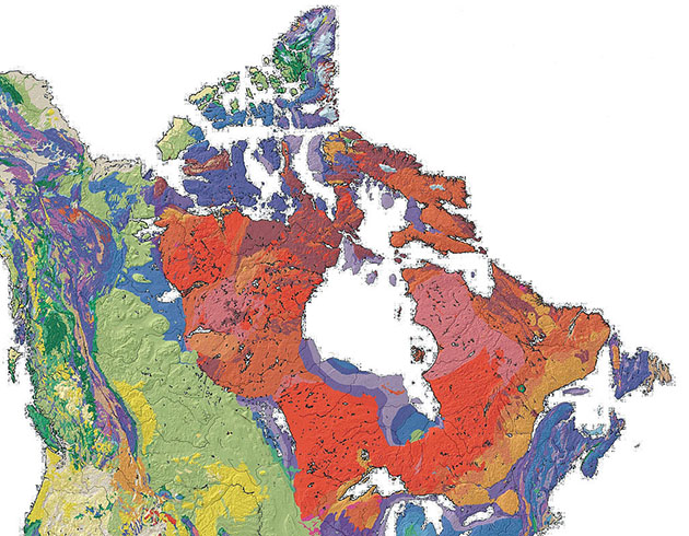 Canadian Shiled (shades of red)