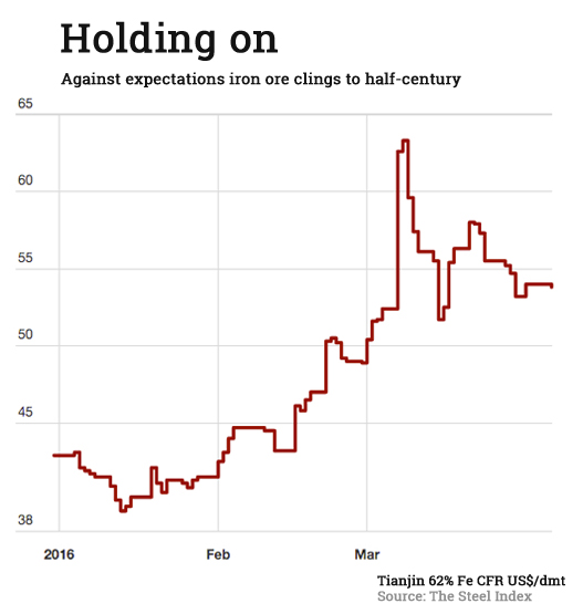 Iron ore price rally: Stop and smell the roses
