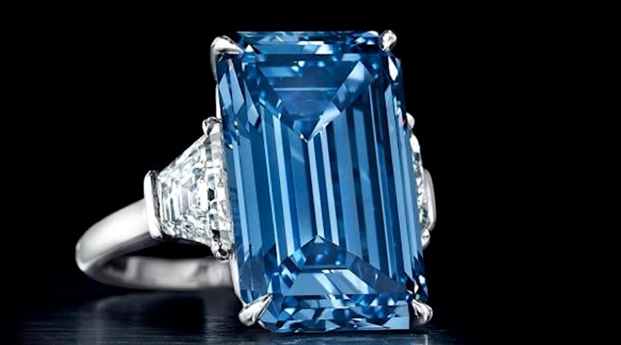 'Oppenheimer Blue' diamond sets new record, fetches $57 million