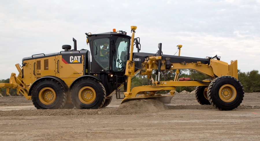 New Cat® 14M3 Motor Grader Has Larger Engine, Increased Fuel