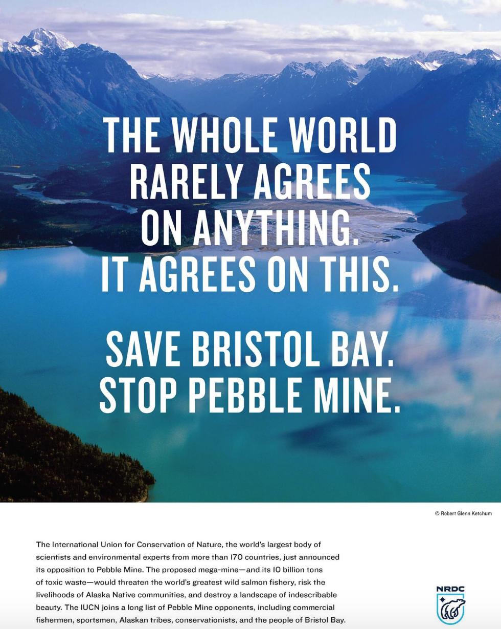 NRDC ad against Pebble Mine