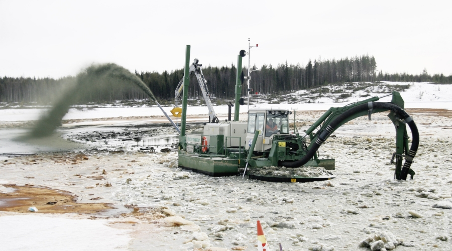 Tailings pond work in a nickel mine - Finland