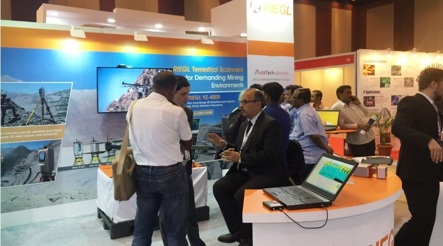 During GWF 2017 exhibition RIEGL displayed some of the latest products of their broad product portfolio in cooperation with their distribution partner for India, MeaTech Solutions.