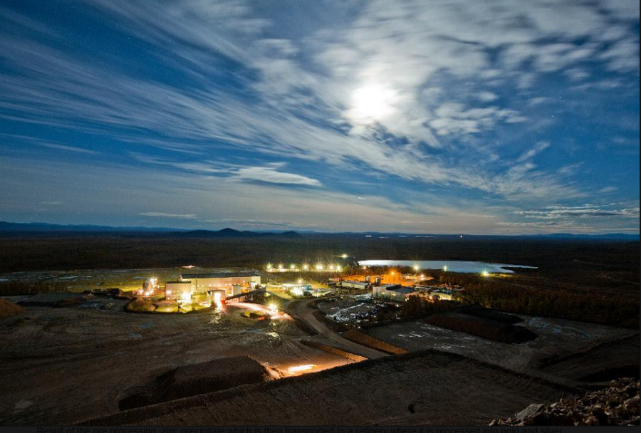 Khakanja mine and processing facilities, Russia. Source: wikimapia.org