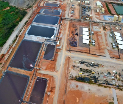 Solvent extraction circuits (high and low-grade ore) at Kinsevere copper mine, DRC. Source: www.mmg.com