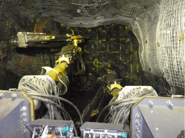 Drift development on the 110 metre level, Reed mine, Canada. Source: hudbayminerals.com