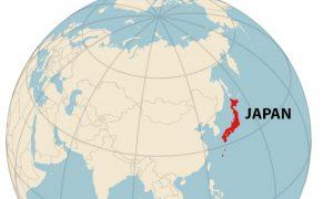 Globe - Japan Highlighted