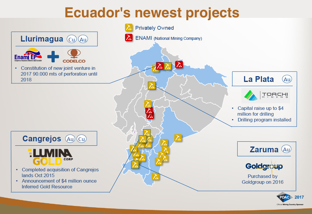 Ecuador anticipates $4 billion in mining investments by 2020