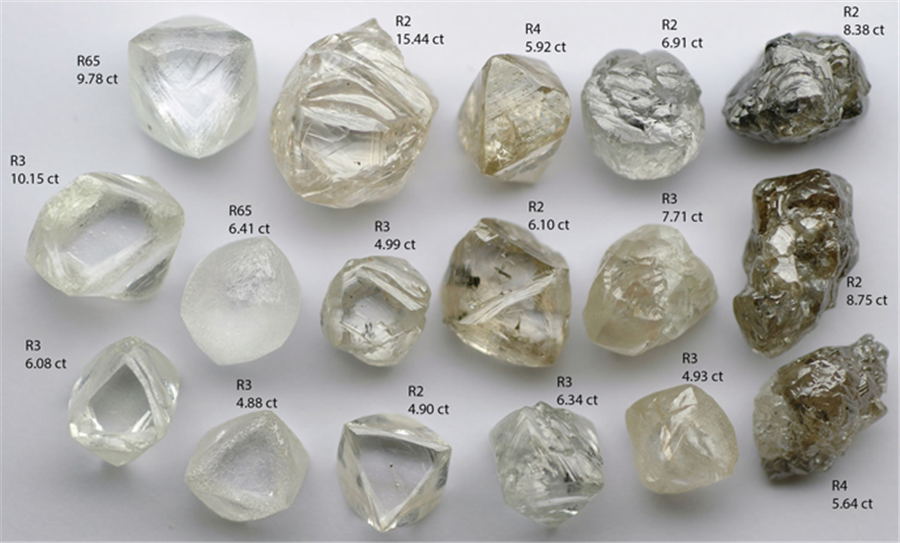 2017 global natural diamond production forecasted at 142M