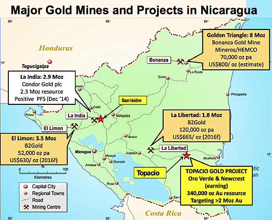 Gold rush in Nicaragua — production doubles in about 10 years