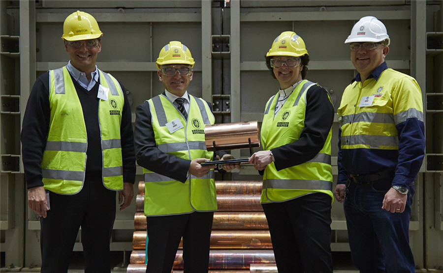 BHP Olympic Dam produces first copper cathode from heap leach pilot