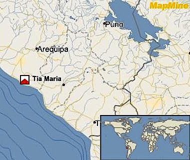Southern Copper to resume Tia Maria project in Peru as permit imminent
