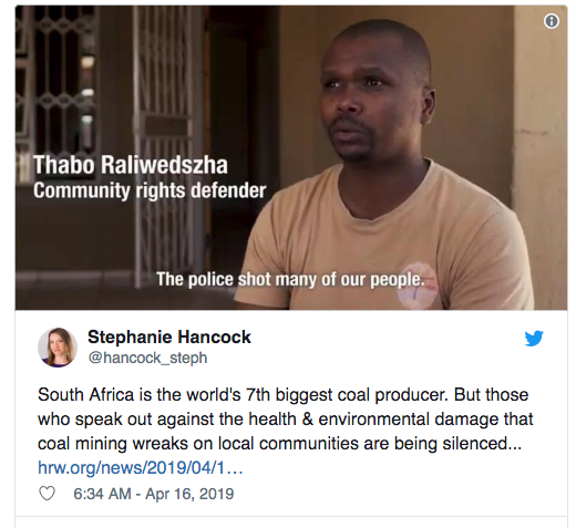 Anti-mining activists in South Africa face harassment, death — report